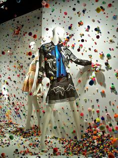 fluffballs detected at Bergdorf Goodman, pinned by Ton van der Veer we sell mannequins @ www.mannequinmadness.com