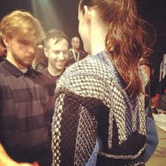 Last minute touches at @Peterpilotto! #aw13
