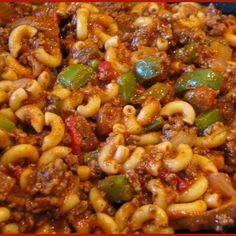 I am not sure why this called Goulash as it is nothing like the Hungarian Goulash that we also ate when I was a child.  My mom would make this a couple of times a month for her 7 kids.    I am sure that is was cheaper than the Hungarian Goulash, but was well loved and to this day is enjoyed by my family and friends that eat home style meals with us.