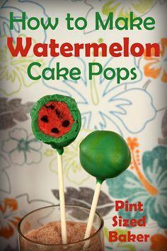 Pint Sized Baker: How to Make Watermelon Cake Pops