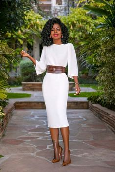 Swans Style is the top online fashion store for women. Shop sexy club dresses, jeans, shoes, bodysuits, skirts and more. Business Casual Outfits, Classy Outfits, Stylish Outfits, Work Fashion, Modest Fashion, Fashion Dresses, Urban Fashion, Spring Fashion, Fashion Tips