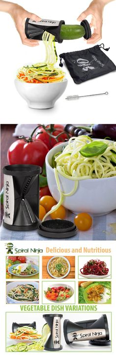 EASY TO USE - Award Winning Design - Use a simple turning motion to instantly turn vegetables into fun veggie spirals with this portable, handheld kitchen tool.