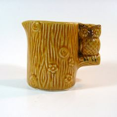 Ceramic Owl Creamer - Vintage from the 1970s