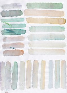 Pastel watercolors