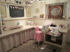 Cute Sewing Room. Love The Picture Frame In The Window.