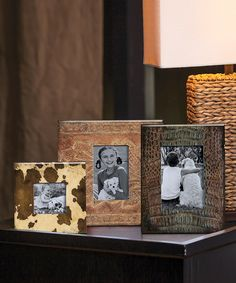 Western Wooden Photo Frame Set