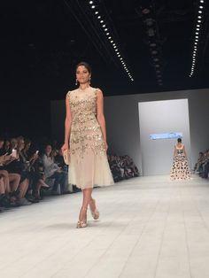 MB Fashion Week Aus Verified account @FashionWeekAus  On the runway - @ShaninaMShaik at @OscardelaRenta #MBFWA https://twitter.com/FashionWeekAus/status/733616561592750080