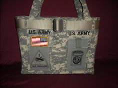 A Squared Craft Affairs: Purses and Bags Tutorials Army Crafts, Military Crafts, Diy Craft Projects, Sewing Projects, Military Love, Military Retirement, Retirement Gifts, Army Mom, Army Sister