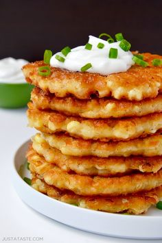 Quick and Easy Corn Fritters | recipe via justataste.com