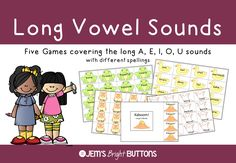 Your students will have lots of fun practicing to read words with the long vowel sounds using these five games!