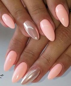 Nails Nails Related posts:Alex, are these too dark?Red matte nails with some glitter🅽🅰🅸🅻🆂♥️🅶🅻🅾🆂🆂♥️🅲🅷🅰🆁🅻🆈 on . Peach Nails, Pink Nails, My Nails, Nails Today, Red Nail, Almond Acrylic Nails, Almond Nails, Nagel Bling, Nagel Gel