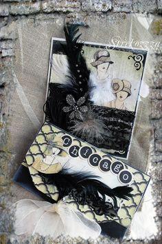 """Купить Свадебный поздравительный комплект """"Чикаго"""" - черный, Чикаго, свадебная открытка, свадебный конверт"""