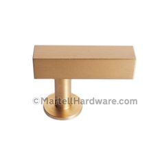 Lew's Hardware [31-101] Solid Brass Cabinet T Knob Square Bar Series Cabinet