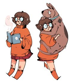 Awesome Velma and Scooby fan art credits to the author Art And Illustration, Illustrations, Character Concept, Character Art, Concept Art, Character Design Teen, Cartoon Kunst, Cartoon Art, Manga Outfits