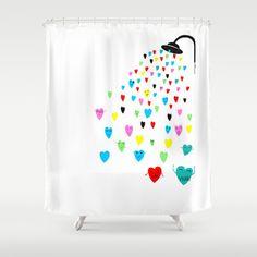 Love shower Shower Curtain by Villaraco - $68.00