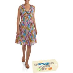 Womens Cowl Neck Dress by Nirmal for Full Circle Exchange #pintoempower