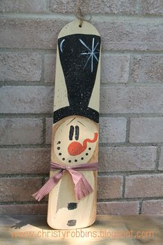 Christy: Snowman Fan BladeYou can find Snowman and more on our website. Christmas Wood, Primitive Christmas, Christmas Signs, Christmas Projects, Christmas Decorations, Christmas Ornaments, Primitive Snowmen, Primitive Crafts, Country Christmas