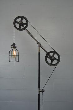 Industrial Floor Lamp #lamp
