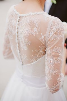 delicate bride dress