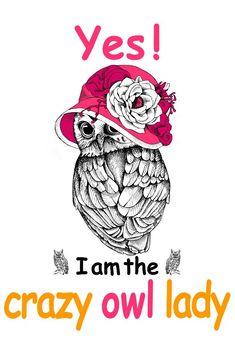 I Am The Crazy Owl Lady T-Shirt, a custom product made just for you by Teespring. Owl Clip Art, Owl Art, Funny Owls, Funny Cute, Owl Room Decor, Crazy Owl, Owl Quotes, Owl Wallpaper, Christmas Owls