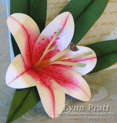Stamp-n-Design: Punched Paper Lilies