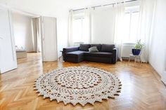 Beautiful luxurious carpet in a beautiful space. Stunning wooden floor and so much light. Carpet Design, Floor Design, Home Depot Carpet, Flooring Near Me, Crochet Carpet, Magic Carpet, Living Room Carpet, Wooden Flooring, Beautiful Space
