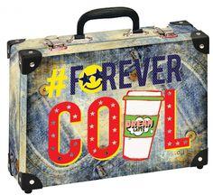 Školní kufřík malý - 33x23x10cm č. 21793 HK Malý  Módní Design Latte, Suitcase, Design, Briefcase