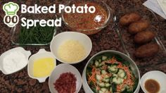 "*Fresh baked potatoes, bacon bits, butter, sour cream, cheese, homemade chili, sautéed green beans and spinach, cucumber, and carrot salad* (courtesy of Chef Malkia)  To add this dish to your 'My Favorites' list, just leave a ""yes"" in the comments. We'll keep a running list of your favorites so that they can be included in the menu for your next cooking session (regardless of which chef you are using!).   Book your next cooking session with Chef Malkia: http://www.foodsitter.com/chefs/malkia"