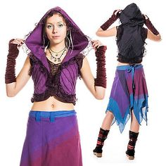 PSY TRANCE CLOTHING, hippy waistcoat, boho pixie bolero top, Goa festival jacket in Clothes, Shoes & Accessories, Women's Clothing, Tops & Shirts   eBay