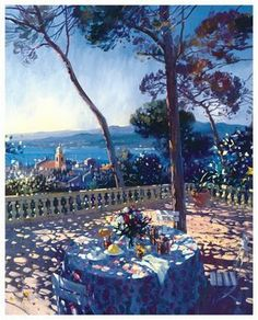 Laurent Parcelier French Artist. Terraces ~ Blog of an Art Admirer