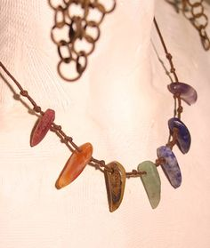 chakra necklace ruby carnelian tiger eye by shamanstones on Etsy