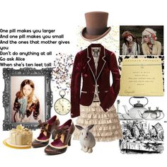 The Mad Hatter by sarcasticbystander on Polyvore featuring art