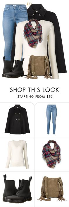 """Fringed bag"" by sherbear1974 ❤ liked on Polyvore featuring Monsoon, 7 For All Mankind, Chloé, Venus, Dr. Martens, Lucky Brand and Diane Von Furstenberg"