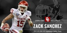 Oklahoma Football - Spring Football Player Profile Graphic accompanied by All-Access video