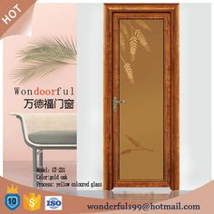 The Global New Glaze Aluminum Bathroom Door Part 71