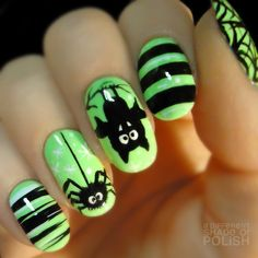 Cute, simple Halloween nails! 'adifferentshade.tumblr'★♥★