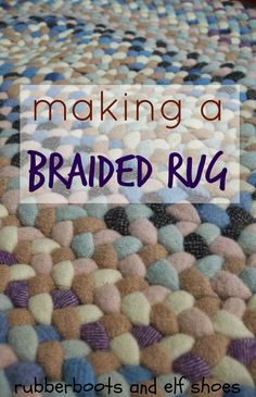 a braided rug - check link at end of this post for Sunshine Creations - detailed tutorial