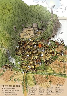 Random Encounter: Map: Town of Berem