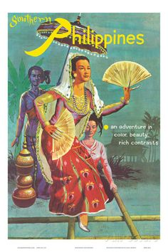 Vintage Poster Giclee Print: Southern Philippines: An Adventure in Color, Beauty, Rich Contrasts : - Retro Poster, Poster S, Vintage Travel Posters, Poster Prints, Art Prints, Art Posters, Movie Posters, Arte Filipino, Filipino Culture