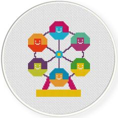 FREE for Oct 11th 2015 Only - Ferris Wheel Cross Stitch Pattern