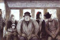 The Omnibus, Honoré Daumier, 1864
