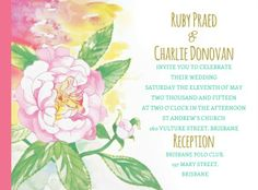 Meet me in Amalfi wedding invite design by Couture Card Company in Australia! With a watercolour rose motif, we love the combination of colours in this wedding invitation Traditional Wedding Invitations, Wedding Invitation Design, Wedding Stationery, Card Companies, Watercolor Rose, Amalfi, Invite, Reception, Meet