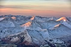 Snow capped: At the top of Skiddaw, 3,000ft above sea level, temperatures will reach a max...