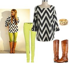 """""""Adabelle's Look: Lime & Chevron"""" by adabelles on Polyvore"""