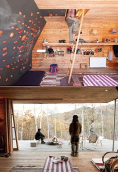 Climbing/bouldering is an awesome workout. I'd love to have a rock wall in my home!