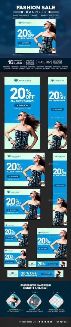 Fashion Sale Banners | Download: http://graphicriver.net/item/fashion-sale-banners/10217154?ref=ksioks