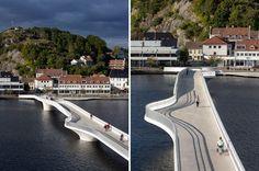 3xn bridge at buen cultural center mandal norway designboom