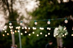 I am going to string lights like this for Christmas over my patio. They may not come down!