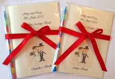 A6 Personalised Childrens Wedding Colouring Activity Book Pack - Cartoon Couple Design - Ideal Gift or Favour