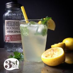 Moonshine Mint Lemonade recipe made with American Born Moonshine